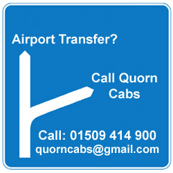 Sign Logo for Quorn Cabs